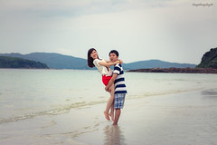 Linh & Hong (langthangdaydo) Tags: couple love man men women human people portrait happy life beauty nice nicecouple vietnam romance romantic photo girl loving travel traveler traveling summer sun sunset green outdoor beach beautiful onthebeach sea coast smile sand sands