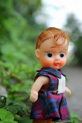 Her name is 'Jungle', thank you! (tamsykens1) Tags: heidi japanese dolls small rubber 1960s bruin remco breezley