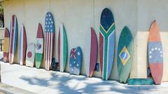 Boards of the World 1 (Kevin MG) Tags: usa ca orangecounty huntingtonbeach sports vans usopen surfboard flags world statue sculpture