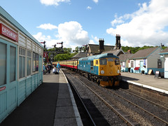 """Class 26 26038 """"Tom Clift"""" (Jackie & Dennis) Tags: diesel yorkshire grosmont nymr northyorkmoorsrailway 26038 class26 tomclift"""
