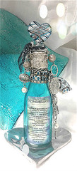 Altered turquoise bottle 1 Cor.13 (Jazzie Menagerie) Tags: silver bohemian 1corinthians13 soldered loveispatient alteredbottle beachbottle turquoisebottle jazziemenagerie