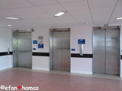 Entrance Lifts at Ysbyty Gwynedd Bangor (Efan Thomas Elevators/Lifts & Buses) Tags: hospital lifts
