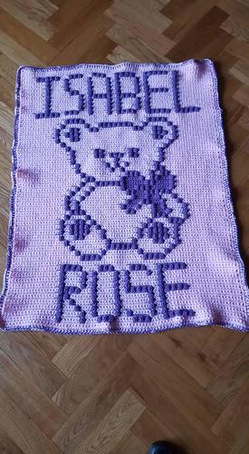 Teddy Bear blanket for Isabel Rose