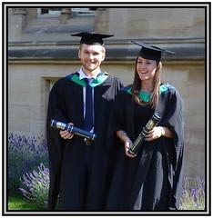 Graduation Day 6. Jack and Rosie (Margaret Edge the bee girl) Tags: graduates nottinghamtrentuniversity caps gowns black summer sun nottinghamshire outdoors degree
