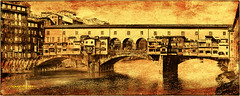Ponte Vecchio - Firenze (Howard Brown Photographic) Tags: florence firenze old bridge ponte vecchio digital art photoart water river arno