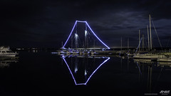 Bluenose II docked at the Northern Yacht Club (Rob Romard) Tags: bluenose night reflection water yachts cloud moonlight