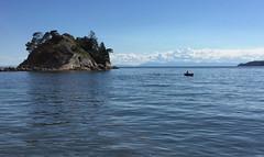 across the Bay (sofarsocute 'ignore faves ONLY') Tags: kayak swimmer whytecliffprovincialpark britishcolumbia canada georgiastrait