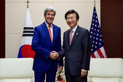 Secretary Kerry Shakes Hands With Republic of Korea Foreign Minister Yun Byung-Se at the National Convention Center in Vientiane (U.S. Department of State) Tags: johnkerry laos vientiane yunbyungse asean associationofsoutheastasiannations