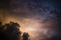 a little drama ... in the sky (mariola aga) Tags: evening sky sunset clouds light sunlight stormyweather thegalaxy