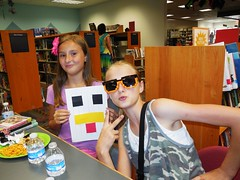 Second annual Minecraft Party held at the Aboite branch on July 25, 2016 (ACPL) Tags: fortwaynein acpl allencountypubliclibrary aboite abt minecraft minecraftparty crafts photoop coloring