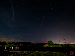ISS Flies Through the Dipper (Mitymous) Tags: iss dipper longexposure moon moonlight night roki14 summer16 bigdipper