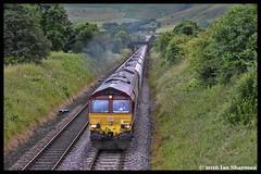 No 66043 15th July 2016 Edale (Ian Sharman 1963) Tags: no 66043 15th july 2016 edale class 66 diesel engine railway rail railways railfreight train trains loco locomotive station peak forest ews english welsh scottish