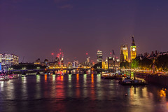 Night View Of Westminster Area (SplitShire) Tags: bigben boats city london londoncity londoncollection metropoli night nightview river sky thames westminster westminsterbridge