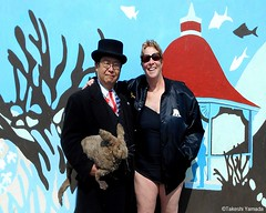 Dr. Takeshi Yamada and Seara (Coney Island Sea Rabbit) visited the Coney Island Polar Bear Club at the Coney Island Beach in Brooklyn, New York on March 27 (Sun), 2016. mermaid. merman. Happy Easter Bunny.   20160327SUN DSCN4690=0015p2C2. Allyson Howard. (searabbits23) Tags: searabbit seara takeshiyamada  taxidermy roguetaxidermy mart strange cryptozoology uma ufo esp curiosities oddities globalwarming climategate dragon mermaid unicorn art artist alchemy entertainer performer famous sexy playboy bikini fashion vogue goth gothic vampire steampunk barrackobama billclinton billgates sideshow freakshow star king pop god angel celebrity genius amc immortalized tv immortalizer japanese asian mardigras tophat google yahoo bing aol cnn coneyisland brooklyn newyork leonardodavinci damienhirst jeffkoons takashimurakami vangogh pablopicasso salvadordali waltdisney donaldtrump hillaryclinton polarbearclub
