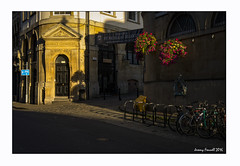 Early morning at St Nicks (zolaczakl ( 2 million views, thanks everyone)) Tags: bristol stnicholasmarket earlymorning earlymorninglight photographybyjeremyfennell nikond7100 sigma1835mmf18dchsmlens august 2016 hangingbaskets bicycle lightshadow uk england southwest