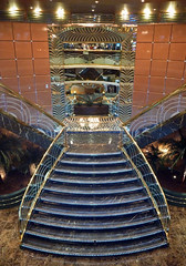 Orchestra forward staircase 4 (PhillMono) Tags: panasonic lumix ship boat vessel msc cruise voyage orchestra art architecture stair staircase reflection shiny marble light symmetry empty