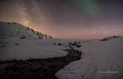 At the top... (Traylor Photography) Tags: alaska night northernlights summitlake milkyway mountiantop stars lake fall snow elevation3886 auroraborealis river palmer constellation willow hatcherspass hike mountain ice