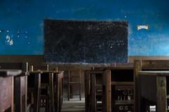 Classroom (Will Margett Photography) Tags: africa sierraleone class classroom room blackboard school student pupil desks blue freetown nikon d7000 topv1111