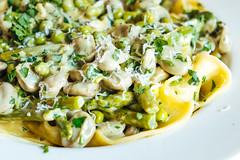 Papardelle with asparagus, broad beans and peas (stijn) Tags: food kitchen pasta asparagus peas fujifilm broadbeans italiancuisine papardelle xpro1 watatenzijnl fujifilmxpro1