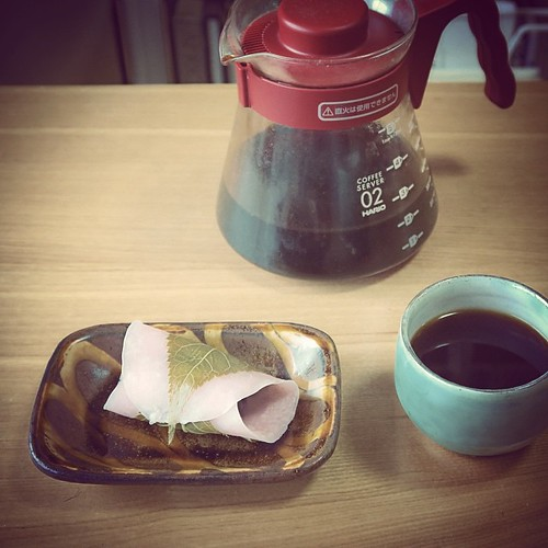 春。 #spring #sakura #sweets #coffee #pottery