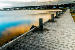 sky on the water (rick miller foto) Tags: ocean morning sky canada water newfoundland reflections coast still east bayroberts