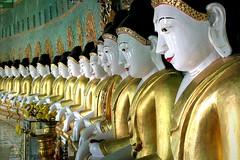 Line of Buddhas (PeterCH51) Tags: statue temple pagoda buddha burma buddhist hill monastery myanmar mandalay colonnade tempel sagaing crescentshaped sagainghill uminthounzeh peterch51 uminthonze