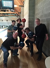 2015 YIP - Day 116: Us. (knoopie) Tags: birthday friends me jeff matt jenni doug garage bowling april adrian day116 picturemail iphone 2015 knoop project365 knoopie 365project instagram 2015yip 2015365 yiipday116