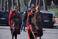 The Gladiators ( at Colosseum ) (faungg's photos) Tags: street trip travel people italy rome tourism photography italian europe random candid character snapshot watching dressup business toughguy historical   gladiator       ancientcostume  buissinessmen