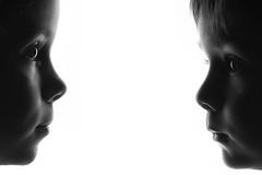 Looking you (erkua) Tags: portrait white black blanco home 35mm studio fuji retrato flash negro estudio softbox casero xe1 strobist