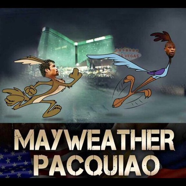 Correcaminos pi-pi el Coyote te va comer #Mayweather #Pacquiao #correcaminos #coyote #plop