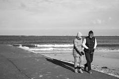 South Shields (ca2cal) Tags: street sea england sky people blackandwhite bw cloud white black beach water mono coast pier seaside wave monotone southshields groyne tyneandwear canonef24105mmf4lisusm canon5dmkiii