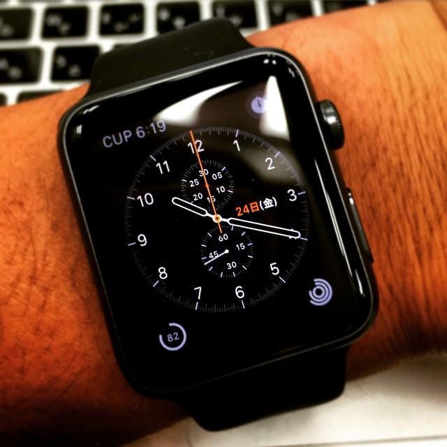 文字盤はこんなかんじ⌚️  #AppleWatchSport #Watch #Apple #AppleWatch #iPhone