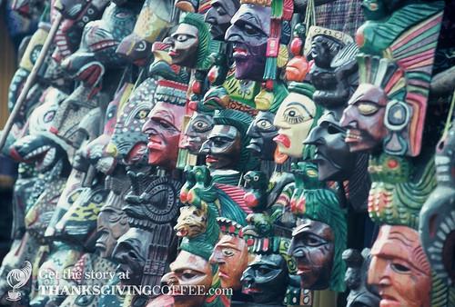 Masks in Guatemala