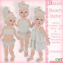 TD Beach Bebe AD (~*Buglets*~) Tags: summer baby cute beach fashion kid clothing toddler child play dress girly adorable clothes sl bikini secondlife bebe swimsuit td slkid toddleedoo limited50