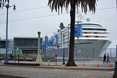 Pier 27 Crystal Symphony 5-2015 (daver6sf@yahoo.com) Tags: portofsanfrancisco theembarcadero jhp pier27 afvrzoomnikkor80400mmf4556ded jamesrhermancruiseterminal