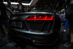 R8 V10 (J. Montilla) Tags: barcelona light red cars car brake audi supercar v10 supercars r8 powerhorse