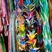 Colourful folded paper cranes (tsuru), Changi Chapel Museum