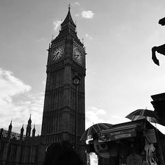 Big Ben on a busy day in London (elainedavis189) Tags: shadow blackandwhite london westminster architecture buildings mono noir nightshot landmarks bigben inkwell clocks lovelondon amazingphoto amateurphotography nikonphotography citylandmark bestoftheday nikond3100