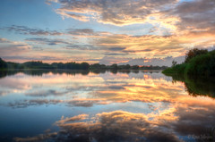 Rietplas reflection (Rene Mensen) Tags: rietplas rene mensen reflection emmen d5100 drenthe water sunset clouds cloudy nature thenetherlands holland