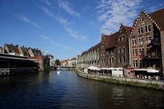 River Lys, Gent, Belgium. () Tags: beautiful canon river frank relax boat friend photographer belgium ngc lys ghent gent  gand 6d riverlys  leicaelmaritr24mmf28