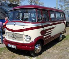 O319 (The Rubberbandman) Tags: old two bus classic public vintage germany mercedes benz coach german transportation vehicle van tone wilhelmshaven o319