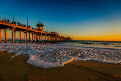 Golden Hour Huntington Beach (Tom Pumphret) Tags: 5dmark3 beach night photo photography socal surf tourist travel waves canon landscape ocean outdoors sea sun