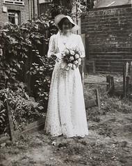 Bridesmaid in 1938 20160705_092346a (tomylees) Tags: old photo vinnie bridesmaid florrie 1938