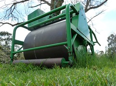 Mowed Down (Paul Hassing) Tags: green grass mower roller machine turf pitch