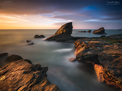 Everything is Light (diegogm.es) Tags: light sunset sea espaa get luz water atardecer mar spain agua tripod asturias gozon olympus filters aire libre ocano cantabrico em5 benro esolympus em5mkii