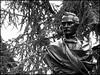 Alexandre Calame, Jardin Anglais, Geneva (Wagsy Wheeler) Tags: geneva geneve jardinanglais monument alexandrecalame rain blackandwhite monochrome statue englishgarden switzerland suiss suisse calame