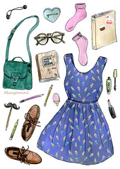 Back to school Quirky - Cindy Mangomini (Cindy Mangomini) Tags: fashion illustration watercolor glasses cupcakes dress drawing icecream watercolour mustache cuteness handdrawn sparknotes fashionillustration modcloth sparklife wreckthisjournal fashiondrawing mangomini cindymangomini icecreamconedress