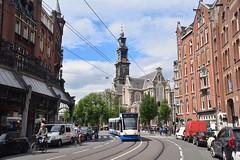 GVB 2105 Raadhuisstraat Amsterdam (eddespan (Edwin)) Tags: amsterdam nederland siemens tram noordholland gvb westerkerk combino raadhuisstraat