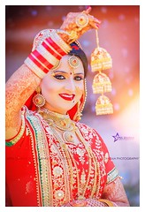 Beautiful Bride <3 (Vipul Sharma 007) Tags: wedding red inspiration love beautiful smile sunshine fashion happy photography bride golden amazing pretty colours indian great traditions happiness wear photographs goals lovely ethnic customs vibrance