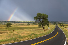 Rainbow Road (Striking Photography by Bo Insogna) Tags: road street travel blue light summer sky sunlight storm tree nature beauty rain weather yellow rural landscape rainbow colorado country over meadow dramatic scene curve bouldercounty jamesboinsogna